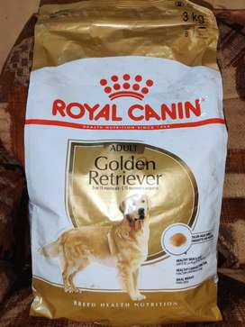 Royal canin goldern retriever (adult) dog food (3kg) just for 1500/-