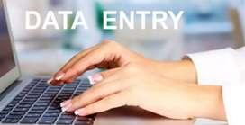 Data entry .  graphic design