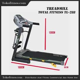 Treadmill elektrik TL288 Total Fitness fitur latihan bakar lemak