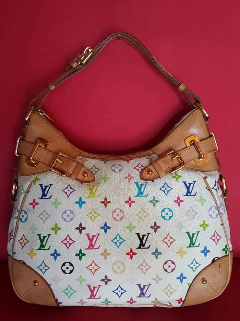 Tas import eks LOUIS VUITTON Greta white multicolore ad no seri 0