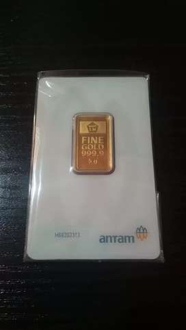 Logam Mulia Emas Batangan Antam 5 gram 24 karat tahun 2020