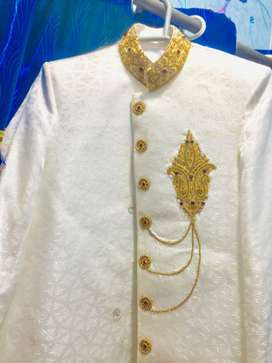 Dhoolah sherwani, complete set with kulla and Khoosa, complete package
