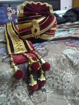 Maroon Safa and dupatta for wedding purpose(Groom)