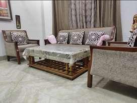 TEAK WOOD Sofas with teakwood centre table