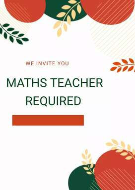 Mathematics teacher required