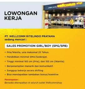 Dicari SPG/SPB Wellcommshop Wil Jabodetabek, Smg,Lpg,Plg,Bali