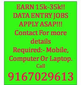 Offline & Online data entry job in mumbai
