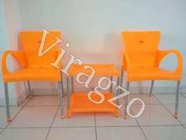 1set Meja dan Kursi teras Shinpo