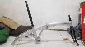 Frame Alloy Sepeda Lipat Ukuran 20