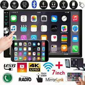 "7"" HD Bluetooth In Dash Touch Screen"
