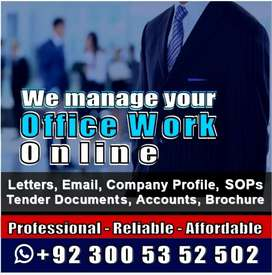 Letters, Emails, Agreements, Project/ Tender Docs, Web Content Writing