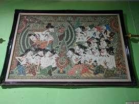 Lukisan Wayang Kanvas.