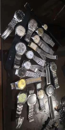 Vintage mechanical Swiss japan India wrist watch d