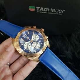 Jam tangan tag heuer Formula One blue leather