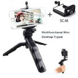 Mini Foldable Tripod Stand + Smartphone Clamp