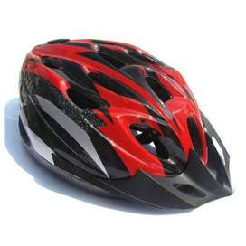 TaffSPORT Helm Sepeda Lipat Seli Mtb Gunung EPS Foam PVC Merah