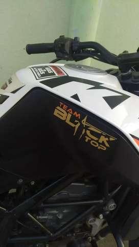 Ktm duke 200  white and orange colour