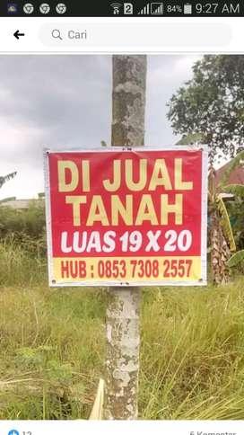Dijual tanah 19×20 tembung pasar 9