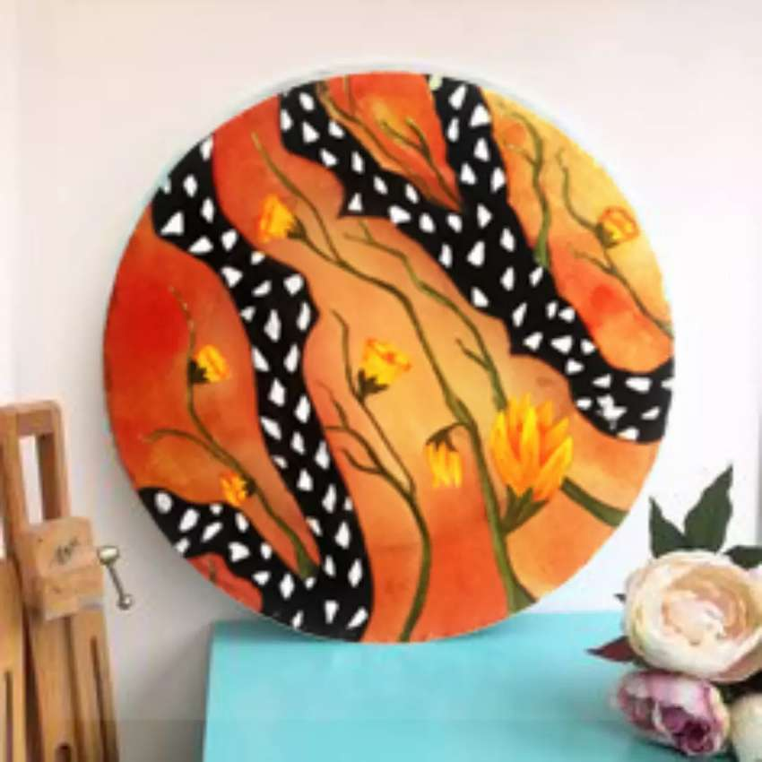 Silk painting , wall hangings or customize products 0
