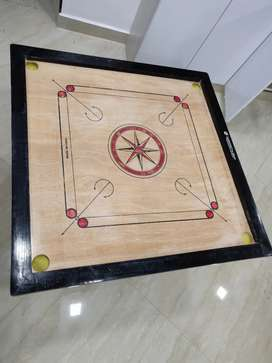 Carrom board with stand and coins