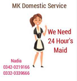 Need a female maid for 24 hours at karsaz