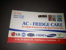 Ac fridge washing machines service all brand