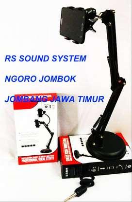 stand microphone +smartphone