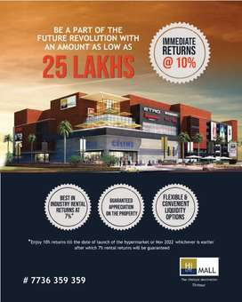 Shop space in a prestigious shoping mall with guaranteed rental return
