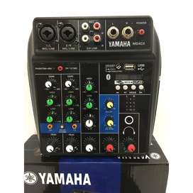 Mixer 4 channel 4ch mini YAMAHA MG4CX USB Bluetooth Efek Karaoke