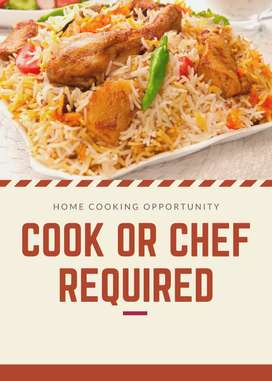 Cook/ cheff required for online food business