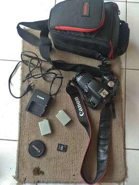 Kamera DSLR Canon 500D Lensa Kit Support Vidio Sudah ada efeknya