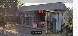 Dijual toko beserta tanah pinggir jalan raya penghubung antar provinsi