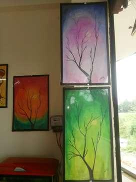 set of 3 ,acrylic painting