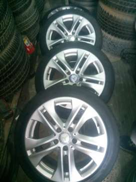 "Four Original Alloy wheel Of MERCEDES BENZ 17"" WITHOUT TYRE"