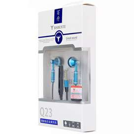 BSBESTE Q23 1.2m Roundline Cable Earphone with Mic
