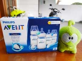 starter set bayi philips avent botol dot sikat empeng