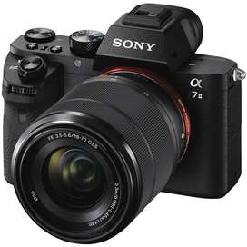 Sony a7 mk-II mirrorless Full-frame camera with lens 28 70mm