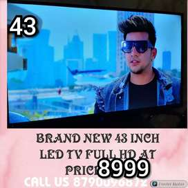 43 INCH BRAND NEW SMART LED TV WITH 2 YEAR WARRANTY