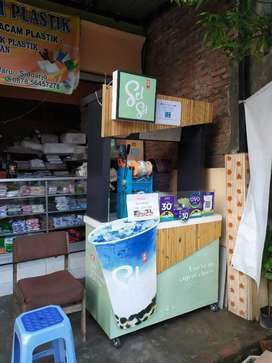 Oper booth franchise sel sel cheese tea viral