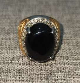 Cincin Batu Akin Black Onyx