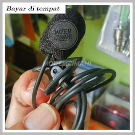 Microphone dg Clip utk Smartphone/Laptop/Tablet/PC 3.5mm TRS