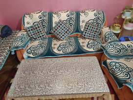 5 seater sofa with dining table