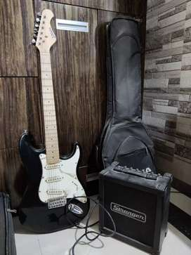 JAVA electric guitar with stranger amplifier