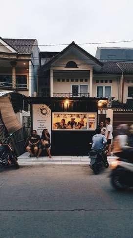 Di jual container booth Bahan bondek Ukuran 3,5 x 2,5