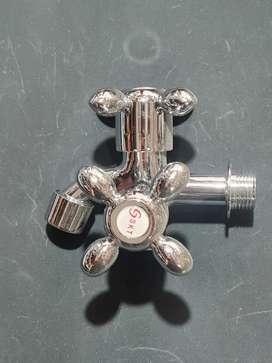 Kran double stainless untuk shower mandi