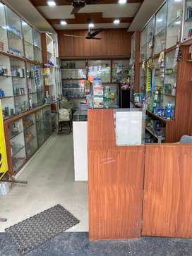 previously medical shop, with full furniture