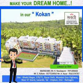 New 1/2 BHK flat for sale in affordable cost near st stand savarde
