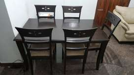 Malaysian Wood 5 seater Dinning table for sale