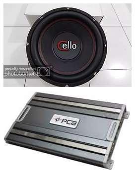 Paket Audio Sound Lembut Plus pemasangan Power 4 ch PCA + Sub CELLO 12