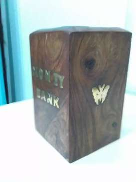 Wooden money bank ,piggy bank